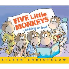 Five Little Monkeys Reading in Bed (Paperback)