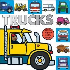 Lift-the-Flap Tab Book – Trucks (Board)