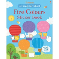 Get ready for school first colours sticker book (Paperback)