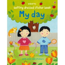 Getting dressed sticker book: My day (Paperback)